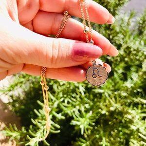 Jewelry - Zodiac Leo gold chain pendant necklace new